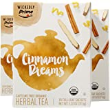 Wickedly Prime Organic Rooibos Tea, Cinnamon Dreams Premium Tea Sachets, 15 Count (Pack of 3)