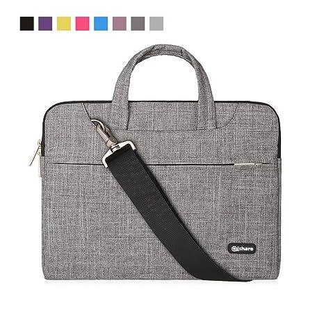 Qishare 15.6 16 Pulgadas Multifuncional portátil Hombro Bolsa maletín portátil de Ordenador portátil Caso Portador de la Ordenador portátil Messenger ...
