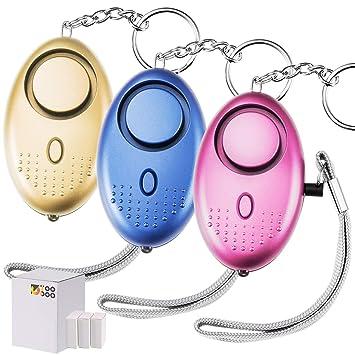 Amazon.com: TOODOO 130 db Safesound Llavero de alarma de ...
