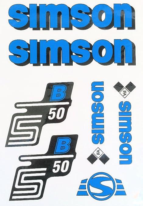 2X Aufkleber Schriftzug S51 B Silber Seitendeckel BJ-Handel
