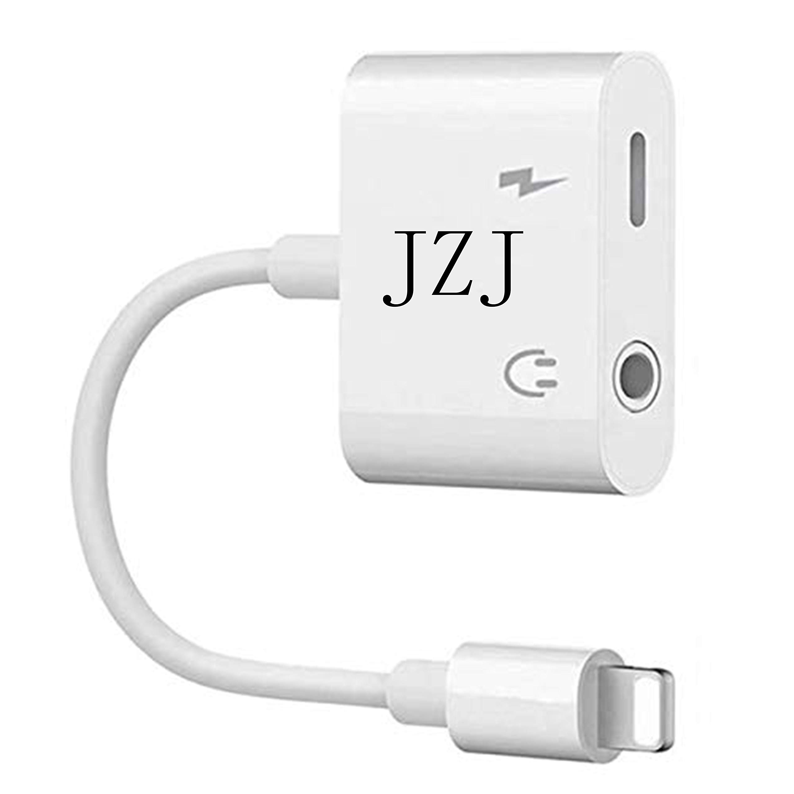 JZJ 2 in 1 Jack Audio Headphone Adapter Earphone Jack Splitter Charger Cable Compatible by JZJ (Image #1)