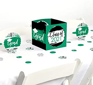 product image for Big Dot of Happiness Green Grad - Best is Yet to Come - Green 2021 Graduation Party Centerpiece & Table Decoration Kit