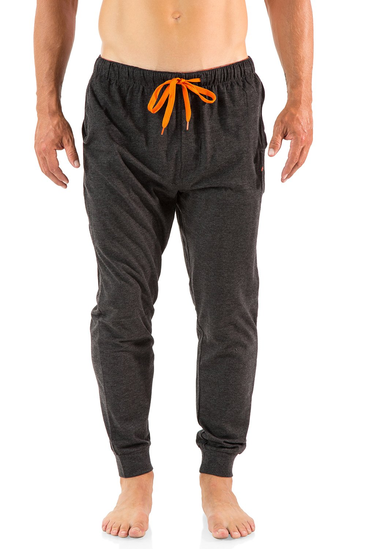 Balanced Tech Men's Cotton Knit Jogger Lounge Pants - Charcoal/Black - Large