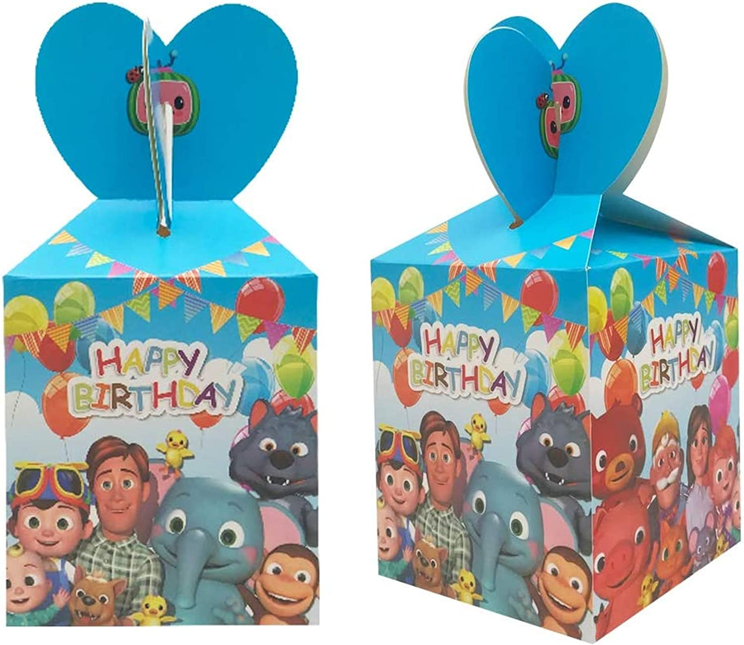 18 Pack Cocomelon Candy Gift Boxes, Cocomelon Themed Party Supplies, Children's Birthday Party Snack Boxes