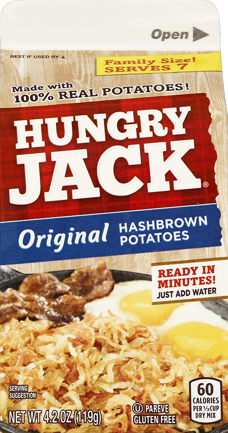 Hungry Jack Premium Hashbrown Potatoes, 4.2 Ounce