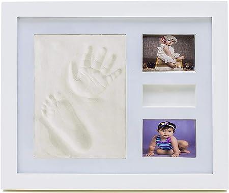 Marco huellas bebe tu regalo original para el recien nacido regalos originales para el bebe coloca las huellas del bebe regalo para bautizo fiesta baby shower cumpleaños recuerdos