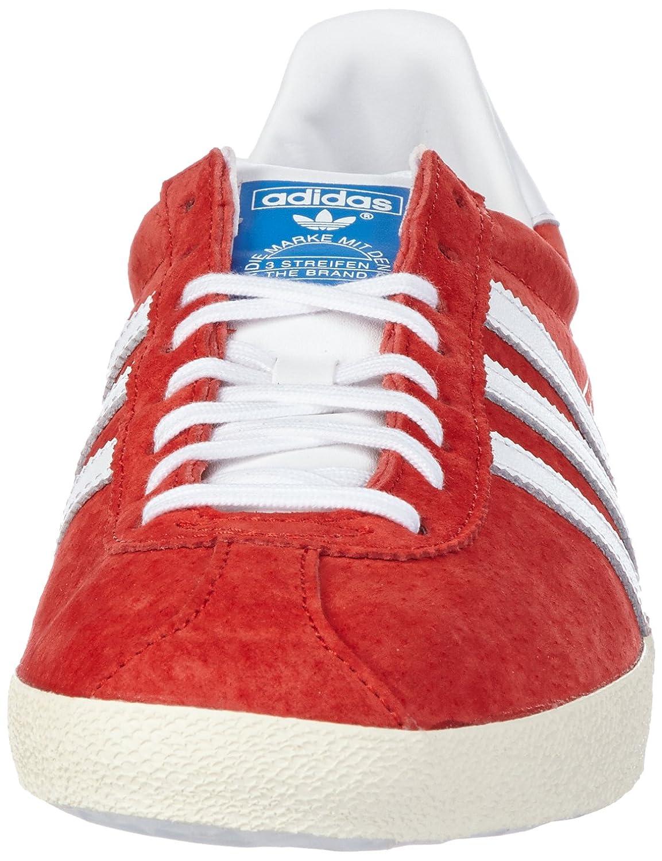 men's adidas red gazelle og trainers