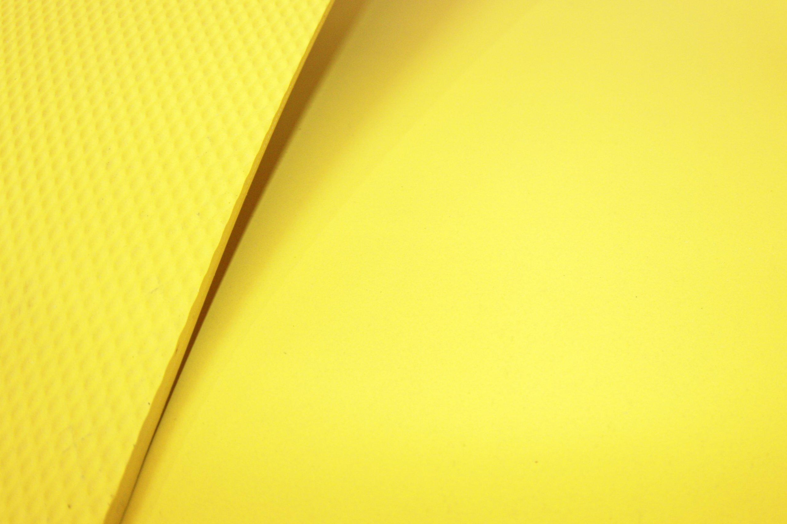 Advanced Custom Manufacturing 232-250-3x5-Y FOD Shield Rubberized Work Matting, 60'' Length x 36'' Width x 0.250'' Thick, Yellow
