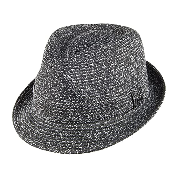 b58d9680aff01a Bailey Hats Billy Trilby Hat - Black-White: Amazon.co.uk: Clothing