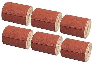 Schleifpapier Korn 40 240 80 60 Aluminiumoxid 120 6 Schleifpapierrollen Set 115 mm x 10 m Schleifrolle 180