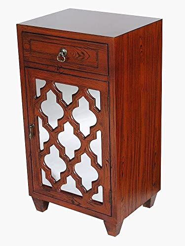 Heather Ann Creations The Aria Collection Contemporary Style Wooden Single Door Floor Storage Living Room Accent Cabinet