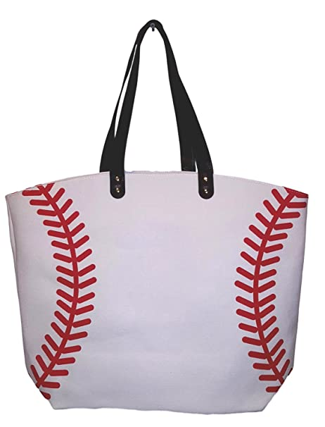 b96b0441a7bc X-Large 22 in Wide Baseball Design Beach Bag Tote - Personalization  Available (Baseball