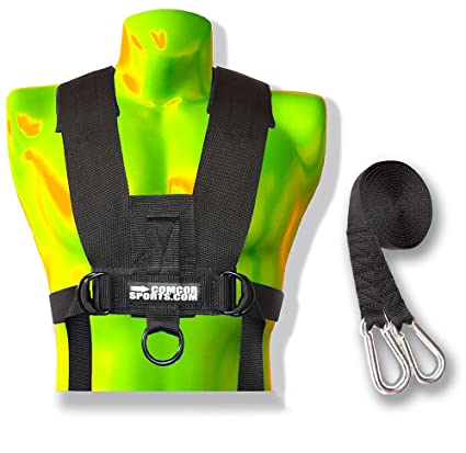 Amazon.com : ComCor Sled Harness Vest w/Padded Shoulders & 9' Pull