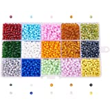Pandahall 1 Box 15 Color 6/0 Glass Seed Beads 4mm (about 5850pcs/box)