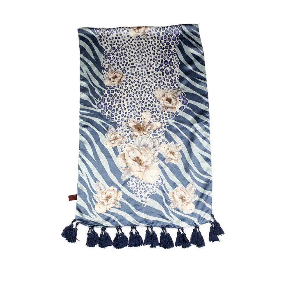 Silk Satin handmade scarves Silk blown elegant silk scarf-B One Size