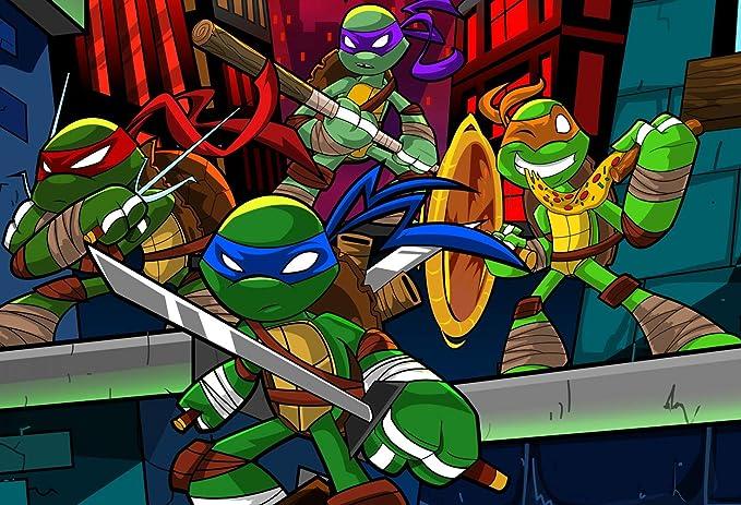 Telón de fondo con diseño de tortugas ninja mutantes de 18 x ...