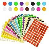 klebepunkte bunt Aufkleber, Farb -klebepunkte,markierungspunkte, Farbcodierung Etiketten, 16 Bleche Verschiedene Farben (19mm) 1050 Tabletten/Beutel