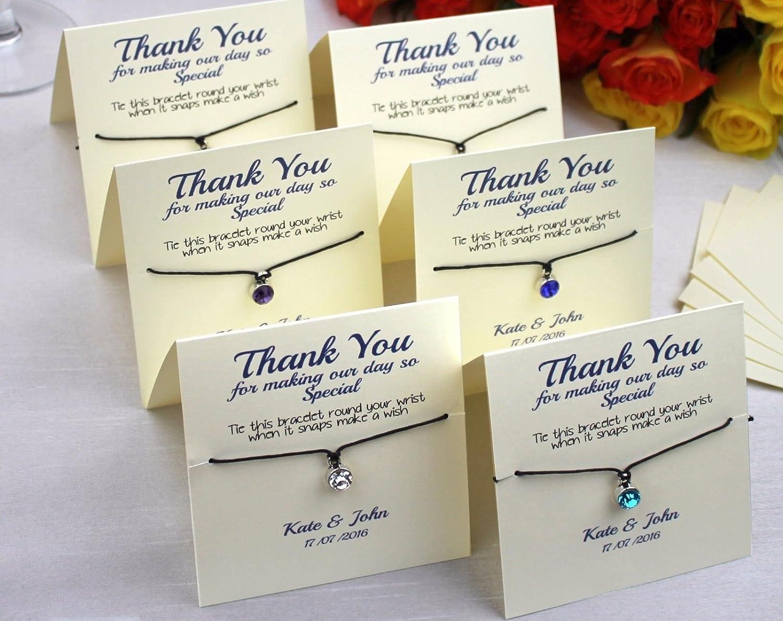 Personalised Luxury Wedding Favour Guest Gift - Friendship Bracelet ...