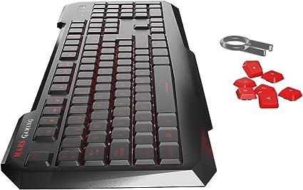 Mars Gaming MK116 - Teclado gaming para PC (personalización avanzada adaptada a tus necesidades, programación exclusiva, capacidad anti-ghosting, ...