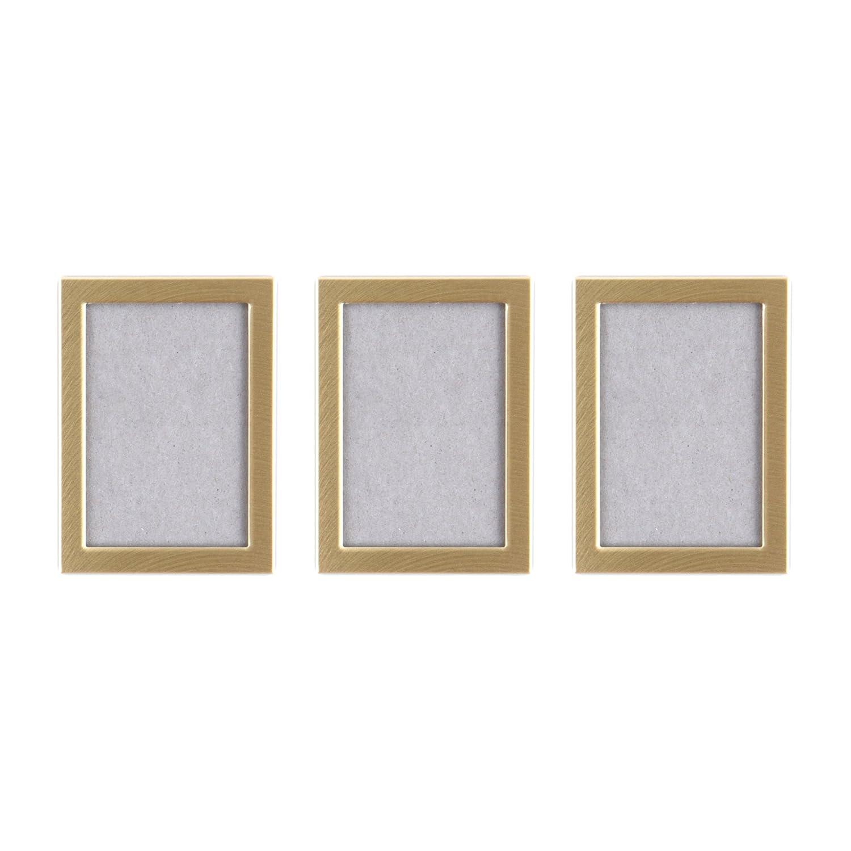 Unbekannt Magnetischer Bilderrahmen in Gold klein 3 Stück ...