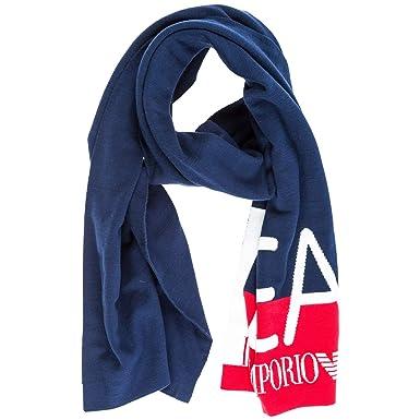 3956ac6e202b Emporio Armani EA7 écharpe femme blu  Amazon.fr  Vêtements et accessoires
