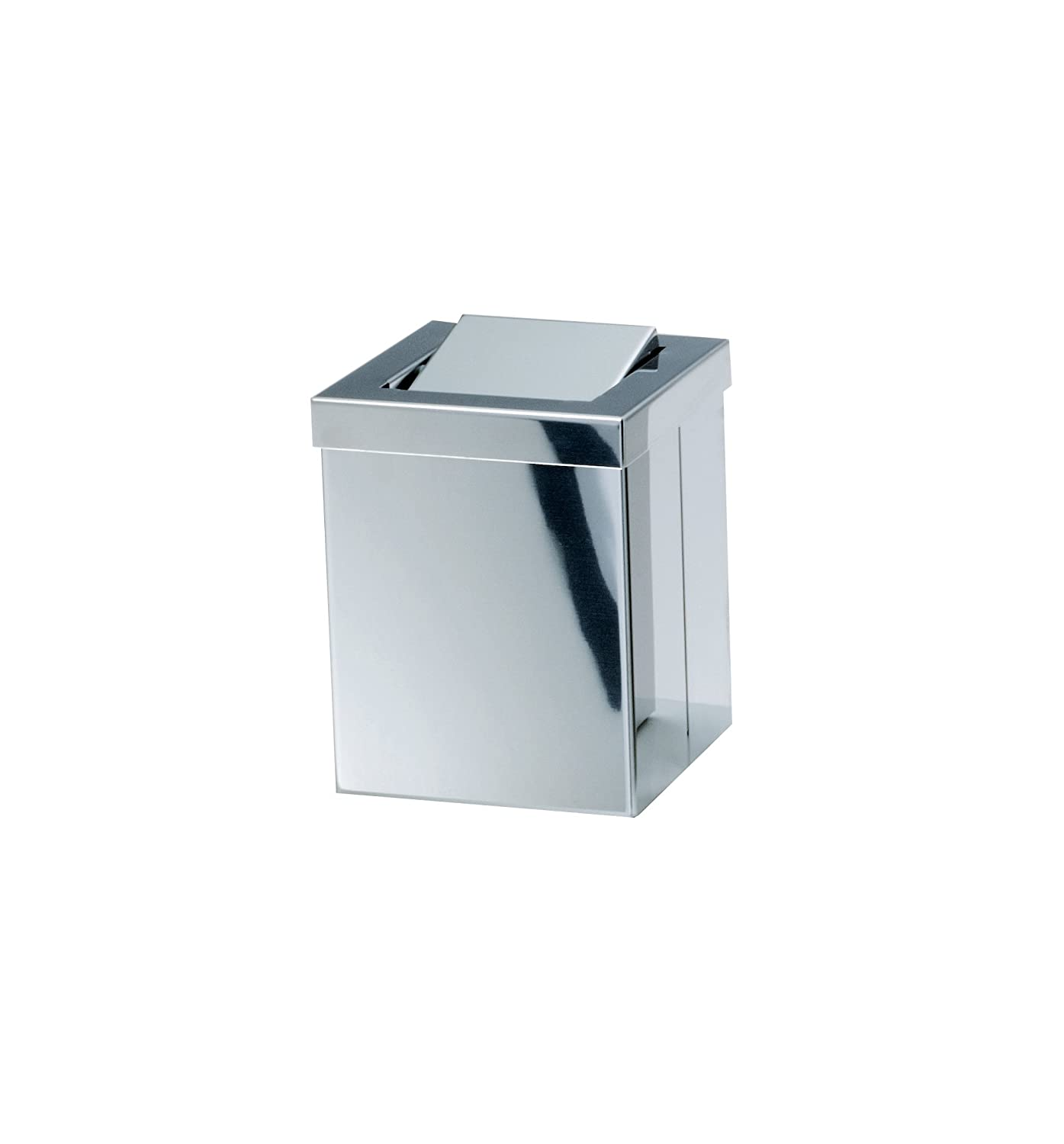 Amazon.com: Walther Square Small Stainless Steel Wastebaske Trash ...