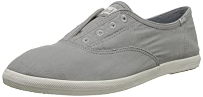 Keds Womens Chillax Washed Laceless SlipOn Sneaker      Drizzle Gray      5 M US
