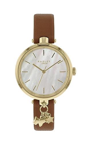 50c0b750e Radley Ladies Brown Leather Strap Watch RY2652: Amazon.co.uk: Watches