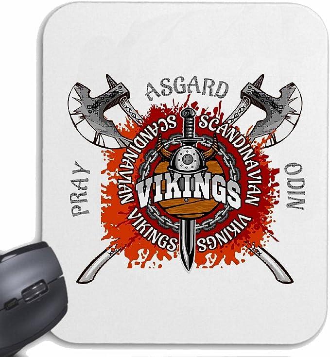 Mousepad alfombrilla de ratón Vikingos escandinavos Asgard ...