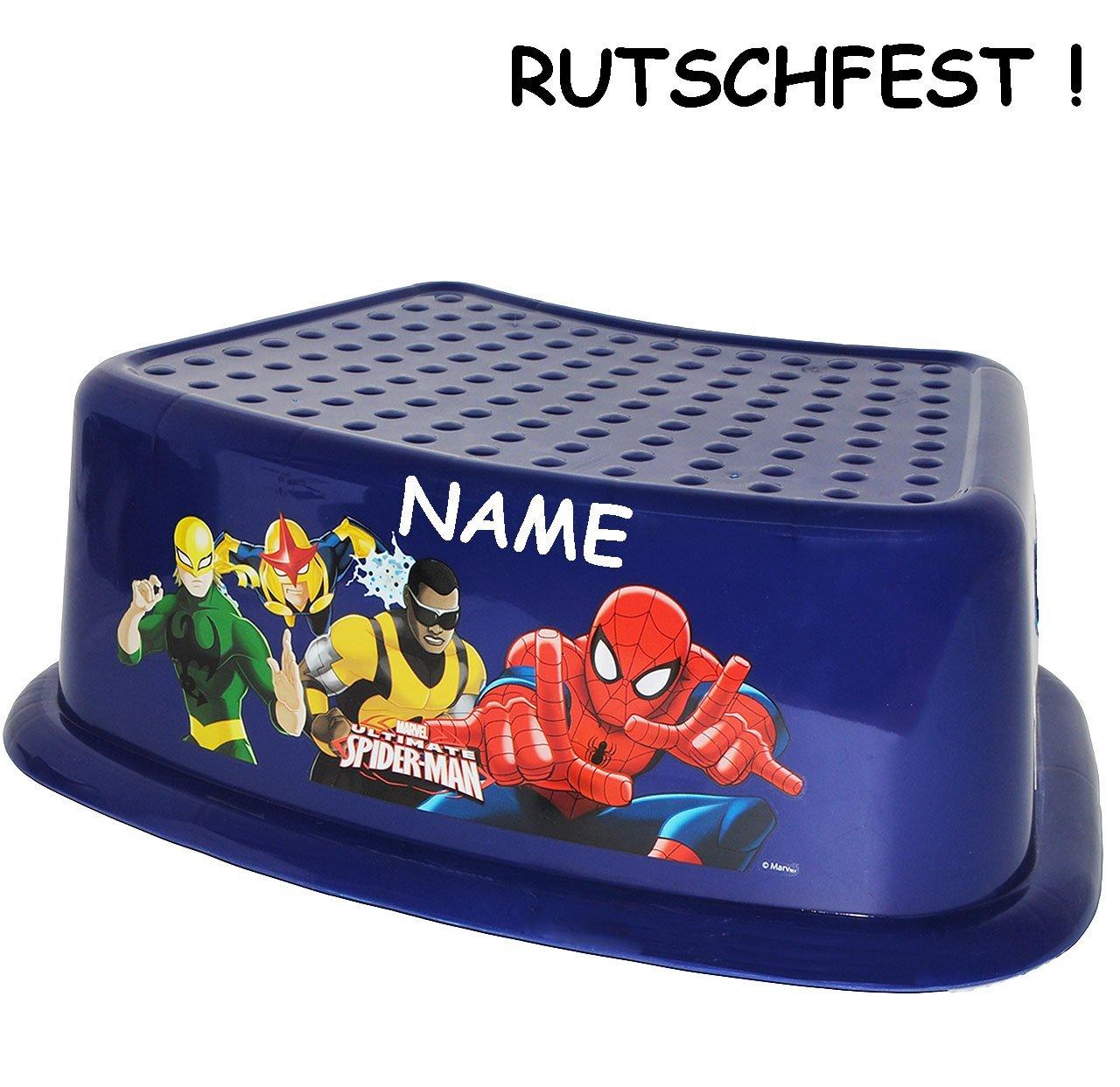 incl Kinderschemel /& Kindertritt ideal als Erh.. Trittschemel // Tritthocker // Kindersitz bis 80 kg // Fu/ßbank Spider-Man alles-meine.de GmbH Anti RUTSCH gro/ß Name