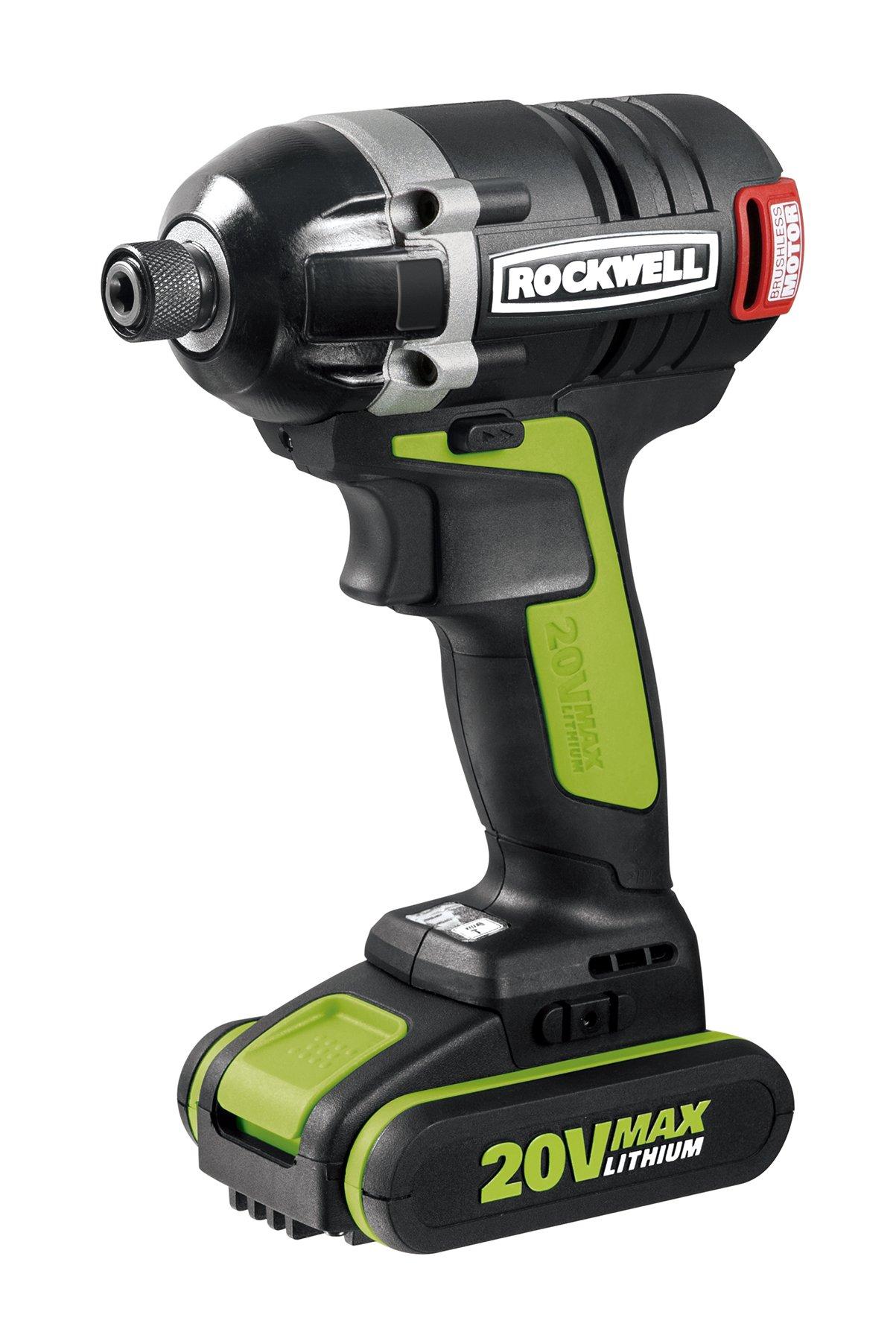 Rockwell RK2860K2 Li-ion Brushless Impact Driver, 20V