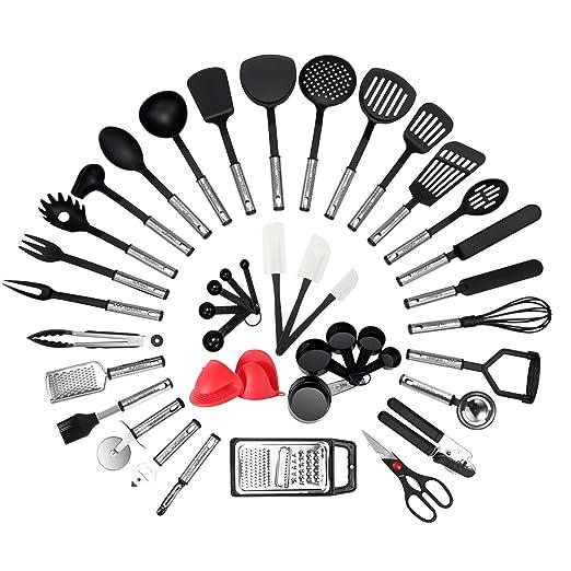 Amazon.com: NEXGADGET - Juego de utensilios de cocina, 42 ...