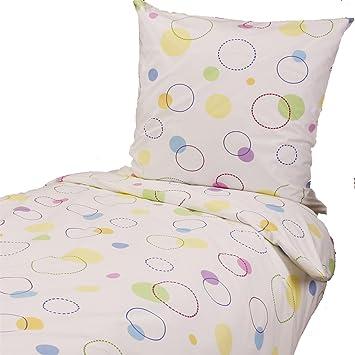 Hans Textil Shop Bettwäsche 135x200 Cm Bunte Kreise Punkte Amazon