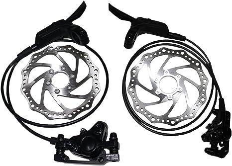 Kit de frenos de disco hidráulicos delantero y trasero 160 mm - Frenos para bicicleta MTB: Amazon.es: Deportes y aire libre