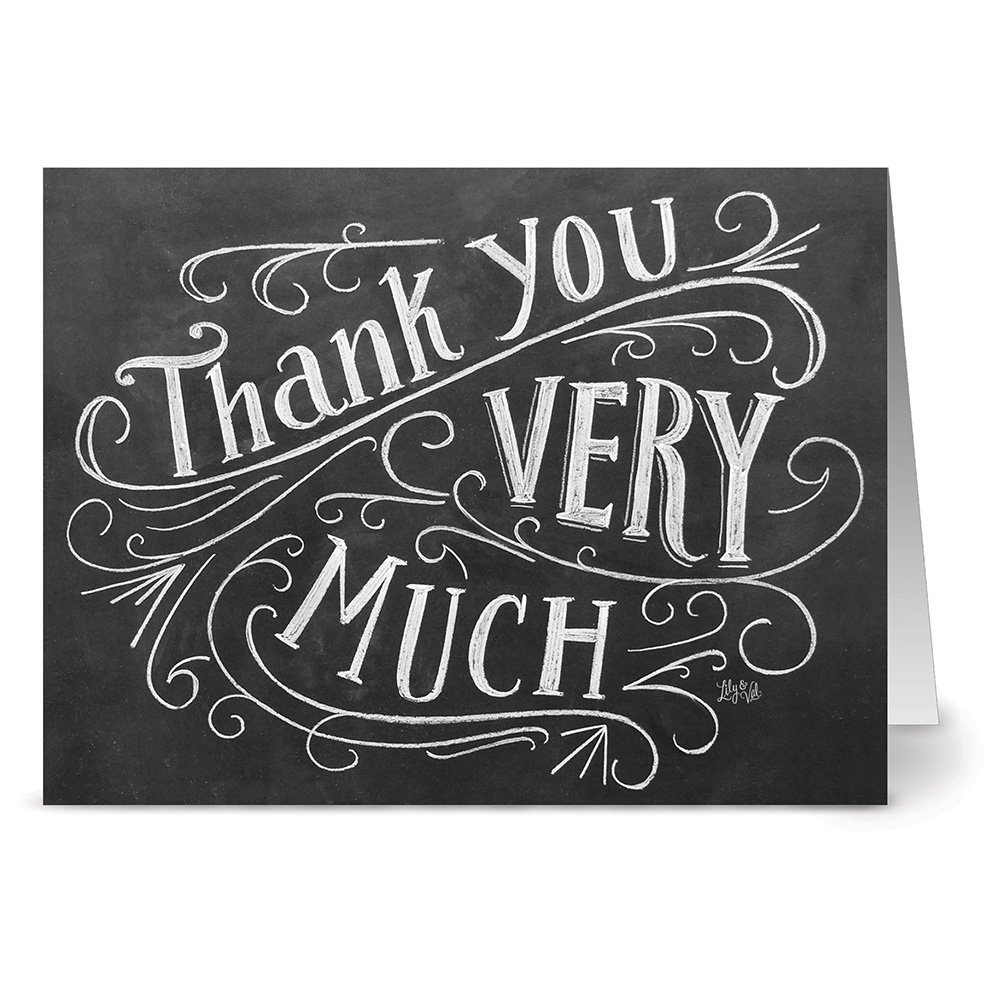 amazon com handlettered thank you 36 chalkboard thank you note