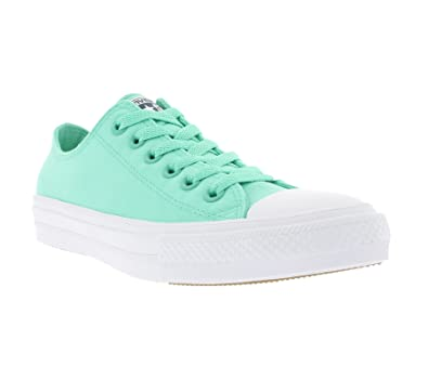 Converse Mens Chuck Taylor All Star II Neon, TEAL/WHITE, 4 M US