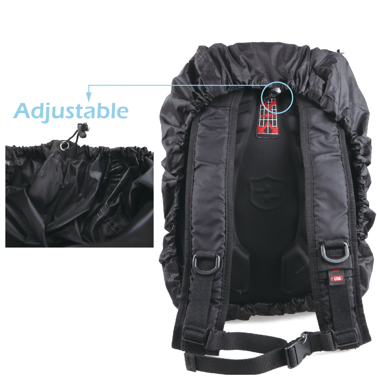 TRIWONDER Waterproof Storage Backpack Rain Cover Pack Cover for Hiking Camping Traveling OS1605