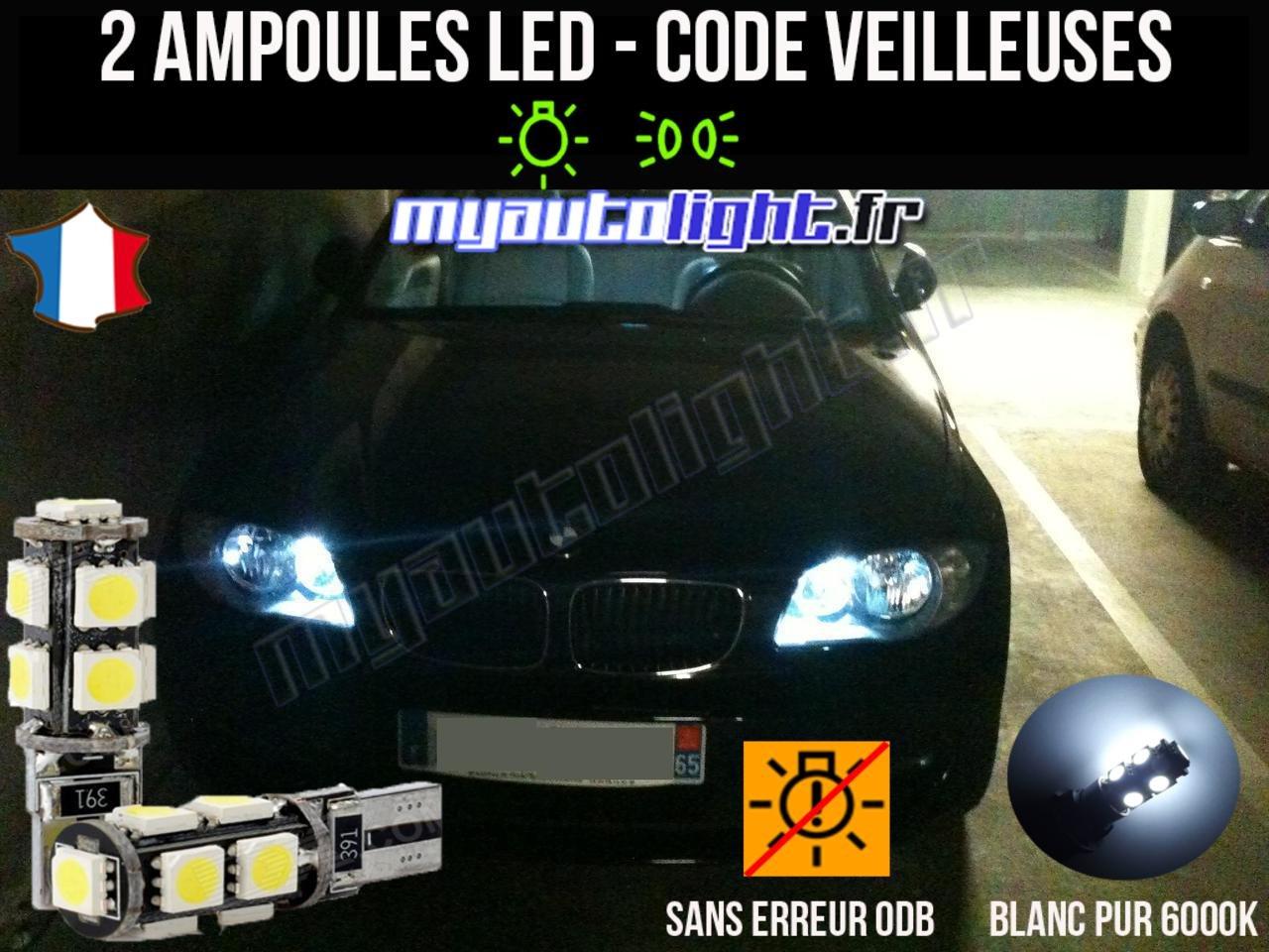 Pack veilleuses à led blanc xenon pour BMW serie 1 E81 E82 E87 E88 MyAutoLight