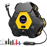Truck TINMIU Portable Air Compressor Pump Bicycle Digital Air Pump for Car Balls Toys and Other DC 12V Auto Tire Inflator with LED Light
