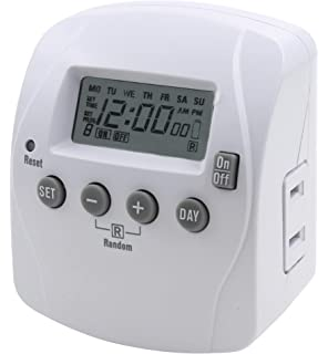 Prime Wire /& Cable TNI2412 1-Outlet Push Pin Timer