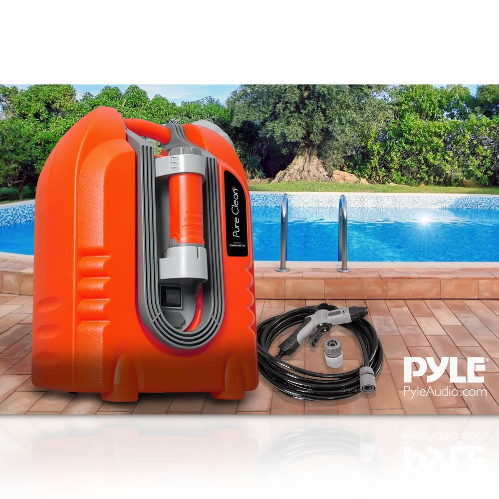 Pure Clean PCRWASHBAT29 portable spray washer W/ Flash Light - Power bank - Carrying Wheels by Pure Clean (Image #10)