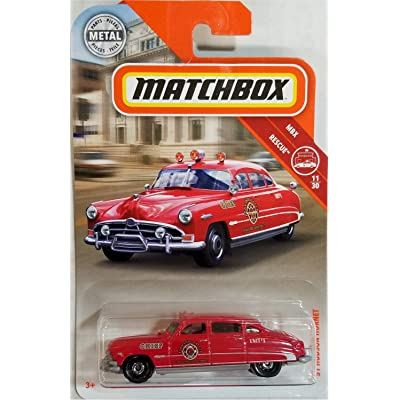 Matchbox 2020 MBX Rescue '51 Hudson Hornet 64/125, Red: Toys & Games