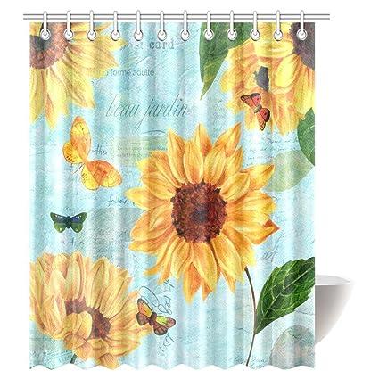 Amazon.com: InterestPrint Beautiful Garden Shower Curtain, Vintage ...
