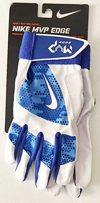 Nike MVP Edge Adult Batting Gloves ~ Royal Blue/White/Bone ~ Extra Extra