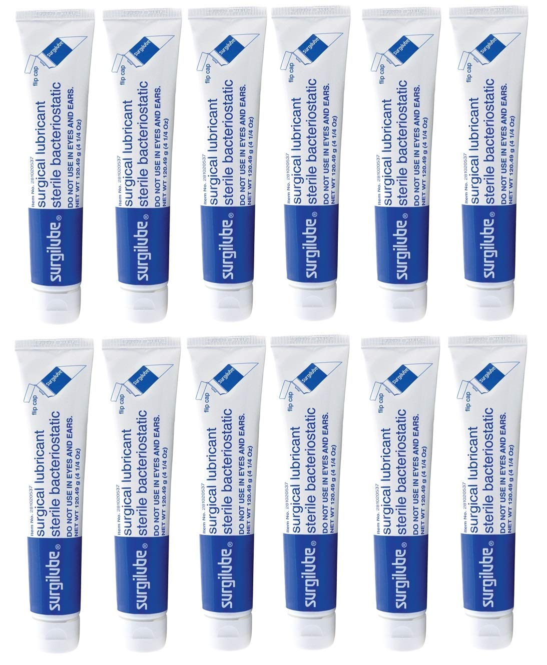 Genuine Surgilube Lubricant: 4.25 oz - Box of 12 Flip Top Cap by Fougera