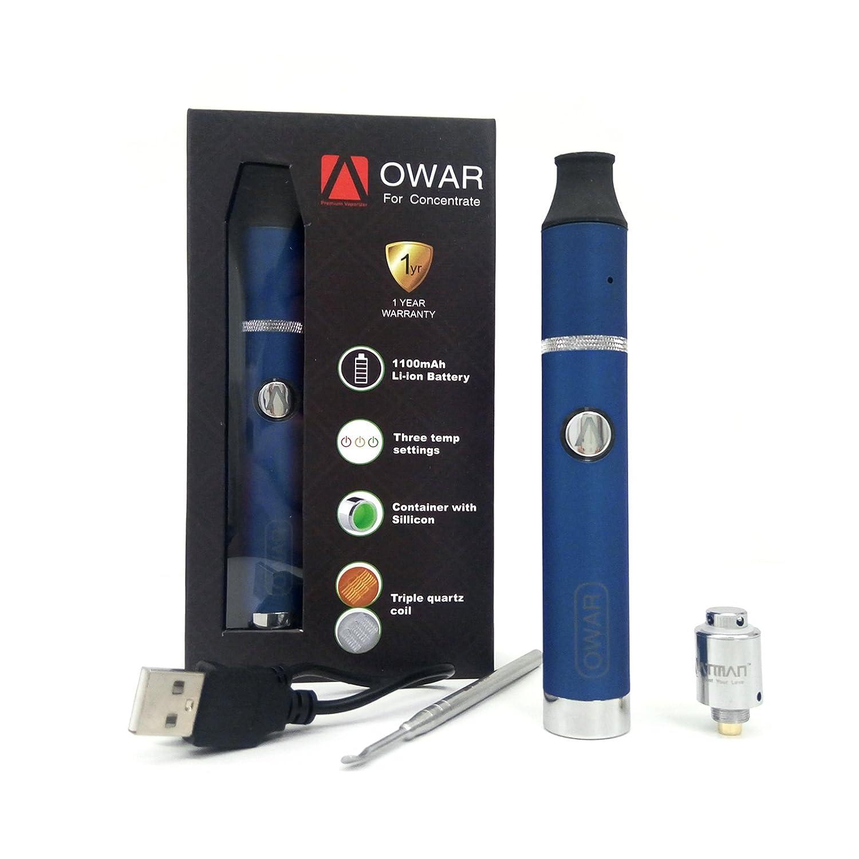 ... el poderoso vaporizador equipado con pila 1100Mah,3 de temperatura, triple bobinas de cuarzo y placa de cerámica,no nicotina (azul): Amazon.es: Salud y ...