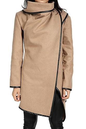 La Mujer Elegante Casual Winter Plus Tamaño Gabardinas Abrigos Asimétricos