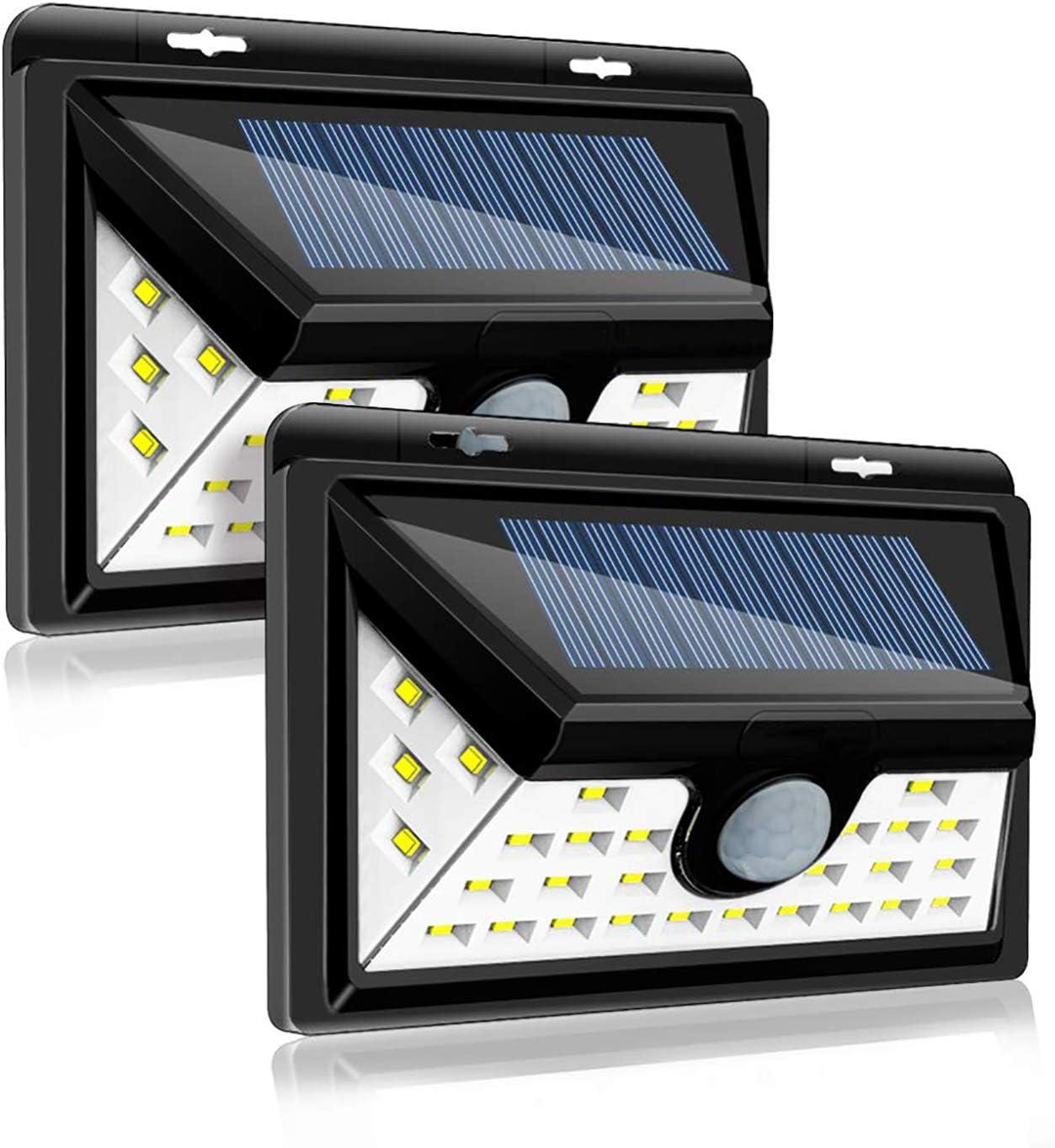 Pack of 4 Perkisboby Solar Lights Outdoor,32 LED Wireless Waterproof Security Solar Motion Sensor Lights