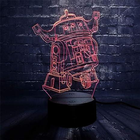 KangYD Wars Machine 3D Night Light, Lámpara de ilusión LED ...