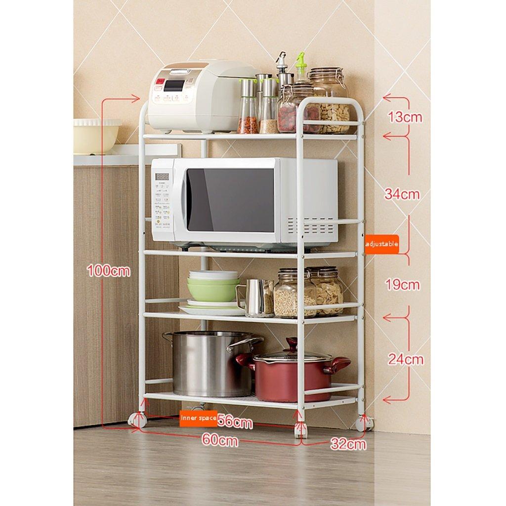 LXLA棚棚電子レンジオーブン棚キッチンはどこにでも移動できます床材マルチレイヤーカーボンスチール台所用品4層式5階40/50/60 * 32 * 100/125 cm ( 色 : 4 layers , サイズ さいず : 60 cm 60 cm ) B07BGYCDQG 60 cm 60 cm|4 layers 4 layers 60 cm 60 cm